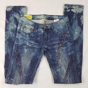 MACHINE UK union jack flag jeans-Final Price Drop